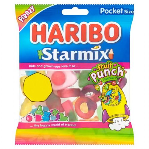 HARIBO Frenzy Starmix Fruit Punch Flavours Bag 70g (UK)